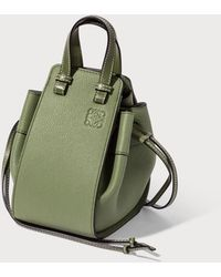 Loewe Hammock Drawstring Mini Bag - Green