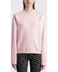 T By Alexander Wang Foundation Terry Crewneck Sweatshirt - Pink