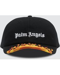 Palm Angels Flames Baseball Cap - Black