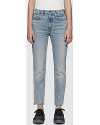 T By Alexander Wang Cult Side Zip Vintage Wash Indigo Jeans - Blue