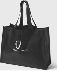 HELIOT EMIL Rubber Tote Bag - Black