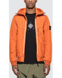 Stone Island Crinkle Reps Ny Jacket - Orange