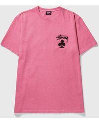 Stussy Club Pig. Dyed T-shirt - Pink