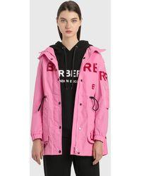Burberry Horseferry Print Shape-memory Taffeta Parka - Pink