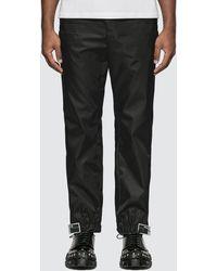 Prada Gabardine Nylon Track Trousers - Black