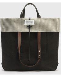 Maison Margiela Logo Fold-over Tote Bag - Brown