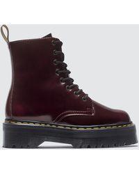 Dr. Martens Vegan Jadon Ii Platform Boot - Red