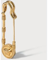 Versace Safety Pin Brooch - Metallic