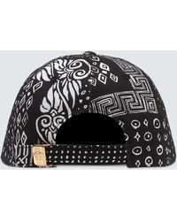 Versace Bandana Print Cap - Black