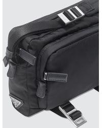 Prada Camera Bag With Webbing Straps - Black