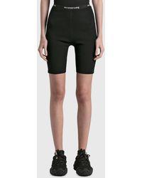 T By Alexander Wang Logo Trim Bike Shorts - Black
