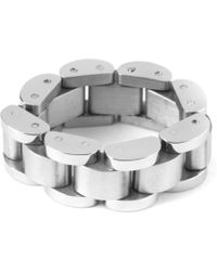 Mister - Steel Mr. Band Ring - Lyst
