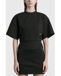 T By Alexander Wang Sculpted Cropped T-shirt - Black