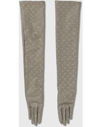 Marine Serre Reflective Long Jersey Gloves - Metallic
