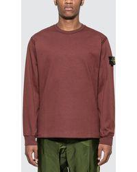 Stone Island Badge Sweatshirt - Red