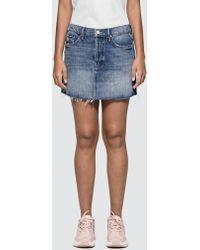 Mother - The Vagabond Mini Fray Skirt - Lyst