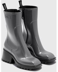 Chloé Betty Rain Boots - Gray