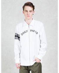 Daily Paper - White Script Logo Zipped Shirt - Lyst