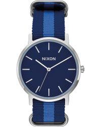 Nixon - Porter Nylon With Navy Dial - Lyst