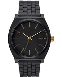 Nixon - Time Teller With Gold Sunray Dial - Lyst
