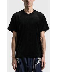 Mastermind Japan 2 Colour Velour T-shirt - Black