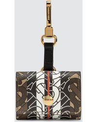 Burberry Monogram Stripe E-canvas Airpods Pro Case - Brown