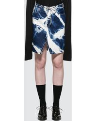 Aries Bleach Denim Skirt - Black