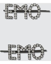 Ashley Williams Emo Hair Pins - Metallic