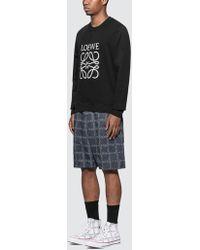 Loewe Logo-embroidered Loopback Cotton-jersey Sweatshirt - Black