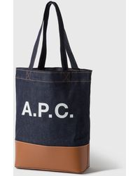 A.P.C. Axelle Tote Bag - Blue