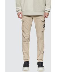 Stone Island Slim Fit Cargo Trousers - Natural
