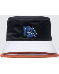 Prada - Pvc Popeline And Plex Bucket Hat - Lyst