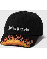 Palm Angels Burning Cap - Black