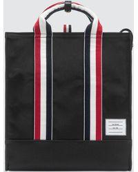 Thom Browne Canvas Tote Bag - Black