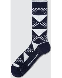 White Mountaineering - Triangle Jacquard Middle Socks - Lyst