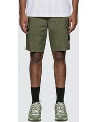 Stone Island Paracadute Cargo Shorts - Green