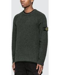 Stone Island Peeling Knit Sweater - Gray
