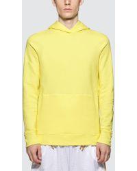 John Elliott Side Zip Hoodie - Yellow