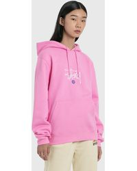 Stussy Copyright Applique Hoodie - Pink