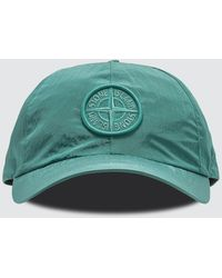 Stone Island Nylon Metal Embroidered Logo Cap - Green