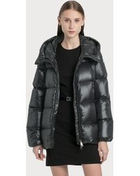 Moncler Ladies Black Seritte Hooded Padded Shell Jacket