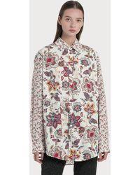 Marine Serre Regenerated Bedsheet Loose Shirt - Multicolor