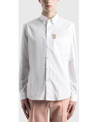 Burberry - Monogram Motif Stretch Cotton Poplin Shirt - Lyst
