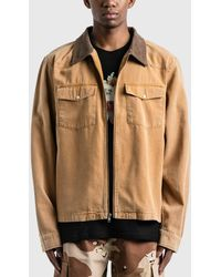 Stussy - Washed Canvas Work Shirt - Lyst
