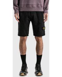 Stone Island Garment Dyed Sweat Short - Black