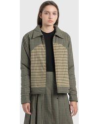 Stussy Plaid Fill Jacket - Green