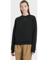 T By Alexander Wang Foundation Terry Crewneck Sweatshirt - Black