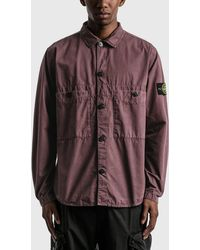 Stone Island Double Pocket Button Shirt - Brown