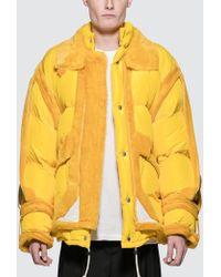 Maison Margiela - Yellow Trim Show Puffer Jacket - Lyst