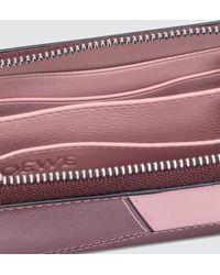 Loewe Puzzle 6 Card Zip Wallet - Pink